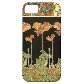 Art décoratifs (orange flowers) by Alphonse Mucha iPhone 5 Cover