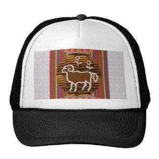ART Decoration RAM ARIES Zodiac Symbol Astrology Mesh Hat