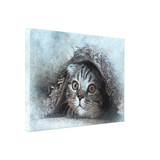 art design beautiful masterpiece new fashion cat canvas print