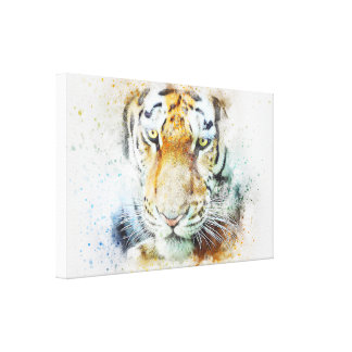 art design beautiful masterpiece new fashion tiger canvas print