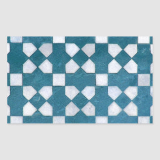 Art Design Patterns Modern classic tiles Beautiful Rectangular Sticker