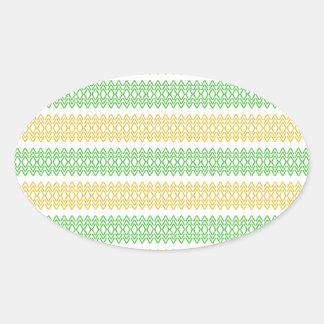 Art Design Patterns Modern classic tiles Beautiful Oval Stickers