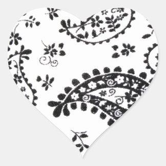 Art Design Patterns Modern classic tiles Beautiful Heart Sticker
