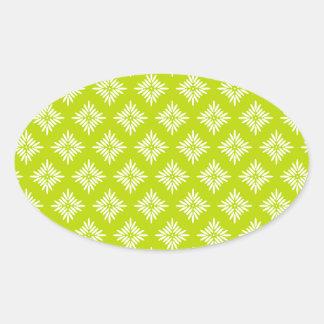 Art Design Patterns Modern classic tiles Beautiful Oval Sticker