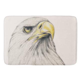Art Drawing Of  Eagle Bath Mats