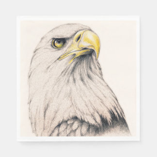 Art Drawing Of  Eagle Disposable Serviette