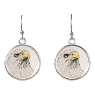 Art Drawing Of  Eagle Earrings