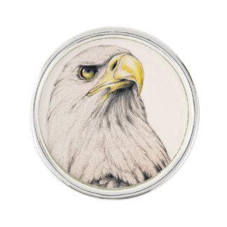 Art Drawing Of  Eagle Lapel Pin