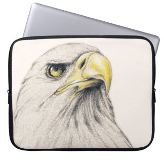 Art Drawing Of  Eagle Laptop Sleeve