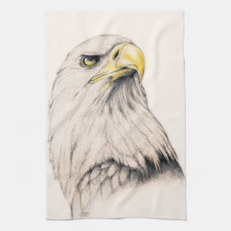 Art Drawing Of  Eagle Tea Towel