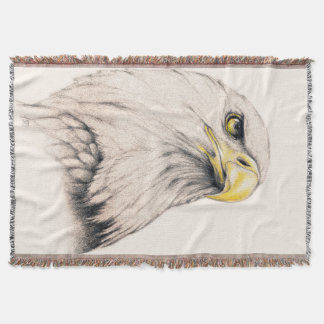Art Drawing Of  Eagle Throw Blanket