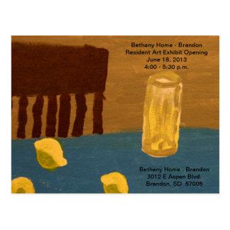 Art Exhibit Opening Postcard