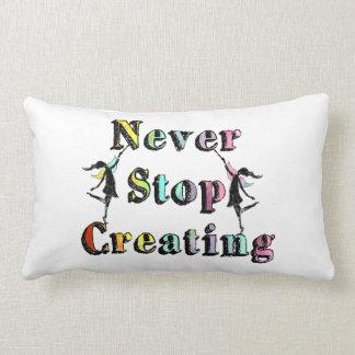 Art Fairies: Never Stop Creating Painterly Lumbar Pillow