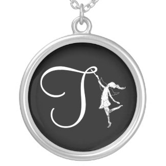 Art Fairy Initial: T Silver Plated Necklace