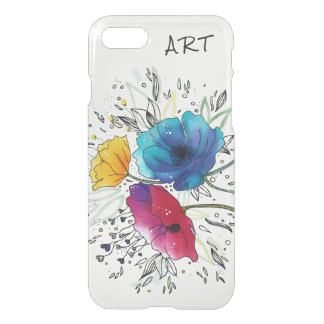 ART Fairy Poppies Watercolor design-Customize it! iPhone 8/7 Case