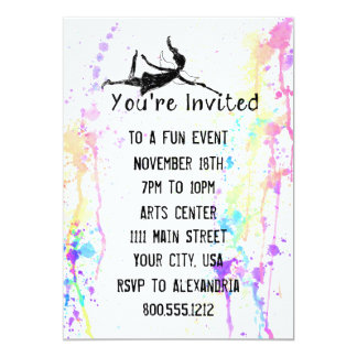 Art Fairy Watercolor Custom Event Card