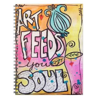 Art Feeds your Soul Original Art Notebook Journal