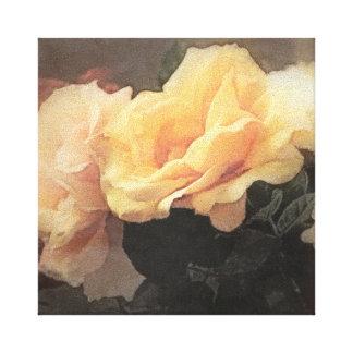 art floral vintage background in pastel colors canvas print