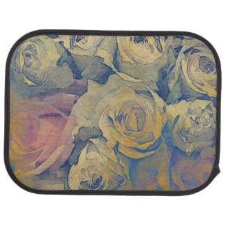 art floral vintage colorful background car mat