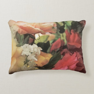 art floral vintage vibrant background with red decorative cushion