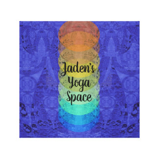 Art for Teens Yoga Chakra Design Canvas Print