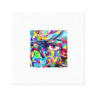 ART FOR WALL. FACE GIRL CANVAS PRINT