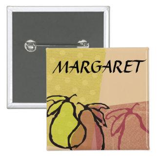 Art fruit pears cooking baking name badge