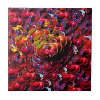 Art fruits small square tile