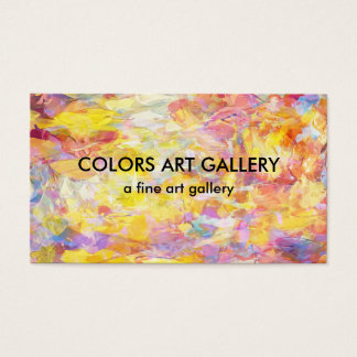 Art Gallery Abstract Design Business Card