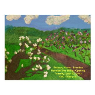 Art Gallery Exhibit Open Invitation Postcard