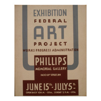 Art Gallery Exhibition Vintage WPA Poster