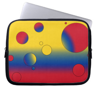 Art Gifts for Colombians: Flag Colors of Colombia Laptop Sleeve