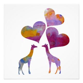 Art Giraffes Photo Print