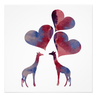 Art Giraffes Photo Print
