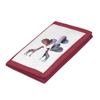 Art Giraffes Tri-fold Wallet