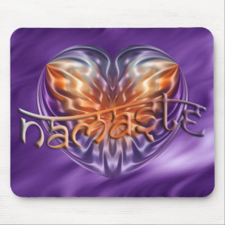 ART Heart NAMASTE | lila waves Mouse Pad