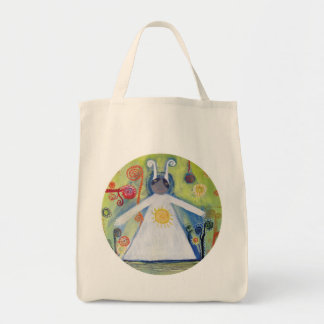 Art Illustration Shiny Tote Grocery Tote Bag