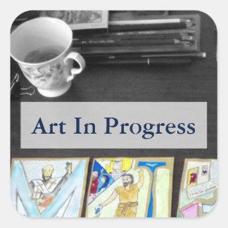 Art in Progress sticker