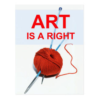 Art is a Right Postcard