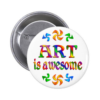 Art is Awesome Pinback Button