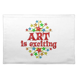 Art is Exciting Cloth Placemat