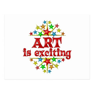 Art is Exciting Postcard