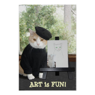 ART is FUN CAT Poster