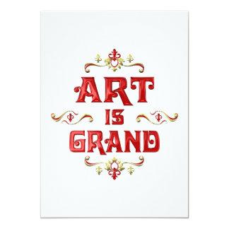 """Art is Grand 5"""" X 7"""" Invitation Card"""