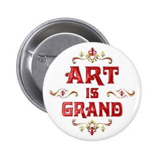 Art is Grand Pins