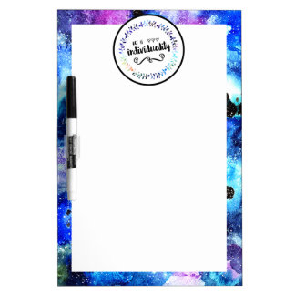 Art is Individuality Dry Erase Board