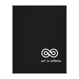 Art Is Infinite - Wrapped Canvas Inspirational Stretched Canvas Prints