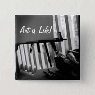 Art is Life 15 Cm Square Badge