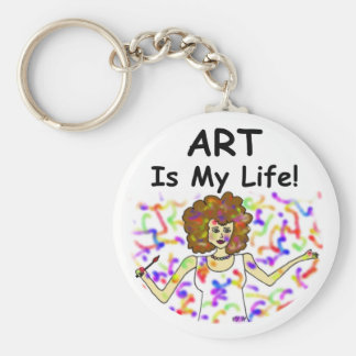 Art Is My Life Keychain