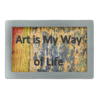 Art is My Way of Life Belt Buckle